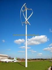 конструкция вертикального ветрогенератора