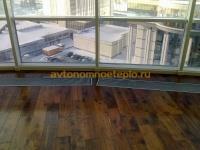 встраиваемые внутрипольные конвекторы перед панорамным окном