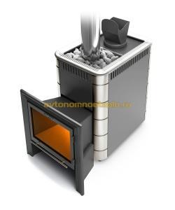 банная печь с каменкой закрытого типа Гейзер Витра