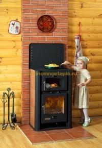 дровяная печь камин Бавария с духовым шкафом и плитой