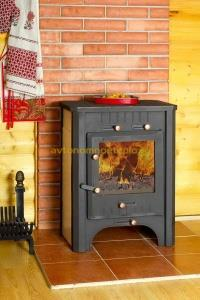 печь-камин Бавария с теплообменником