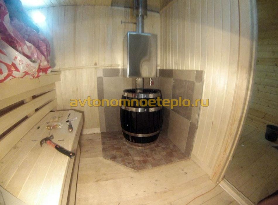 печка Термофор Саяны установленная в бане