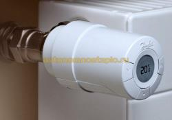 электронная программируемая термоголовка для радиаторов Danfoss