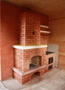 камин и печка с варочной плитой