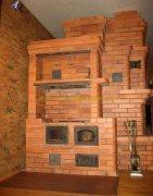 варочная печка с боковым камином