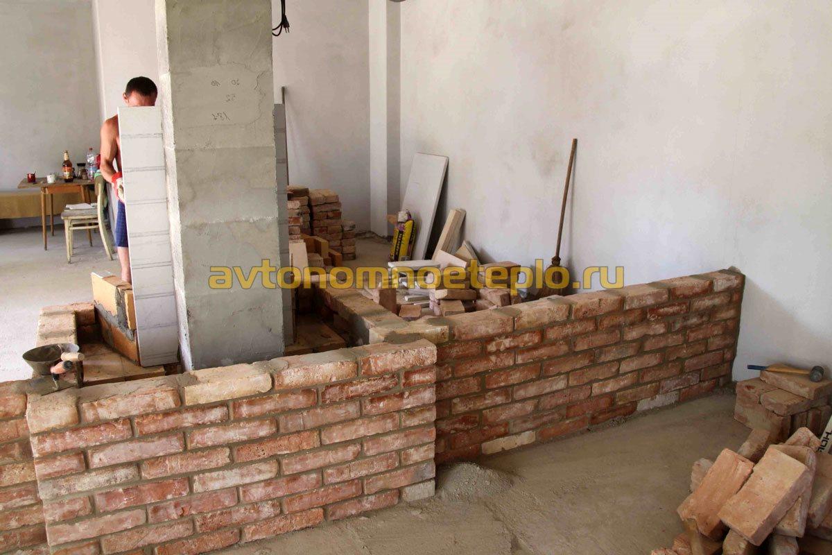 строительство камина