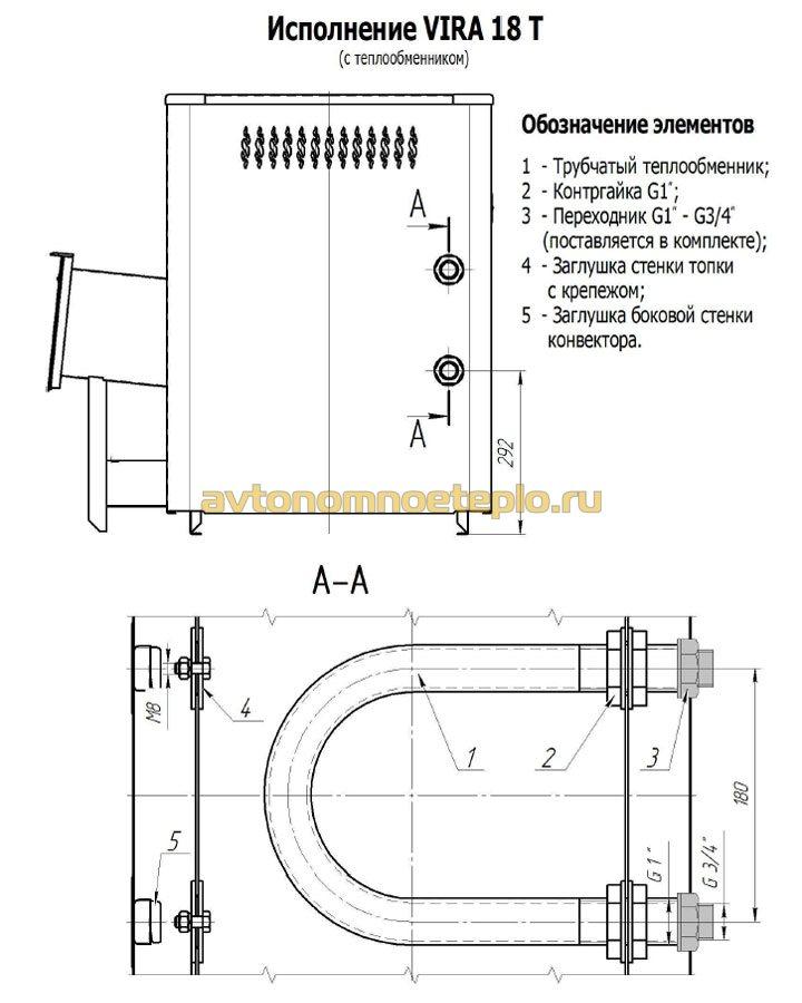 конструкция встроенного теплообменника