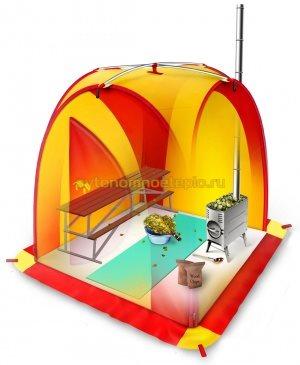 баня-палатка с переносной печкой Пичуга