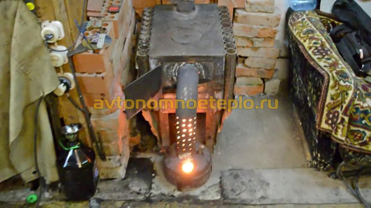 печка от отработки и дров