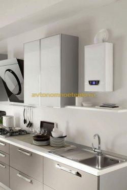 котел установленный на кухне