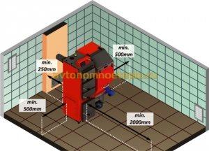 схема правильной установки котла в котельной