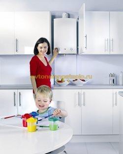 кухонное расположение котла