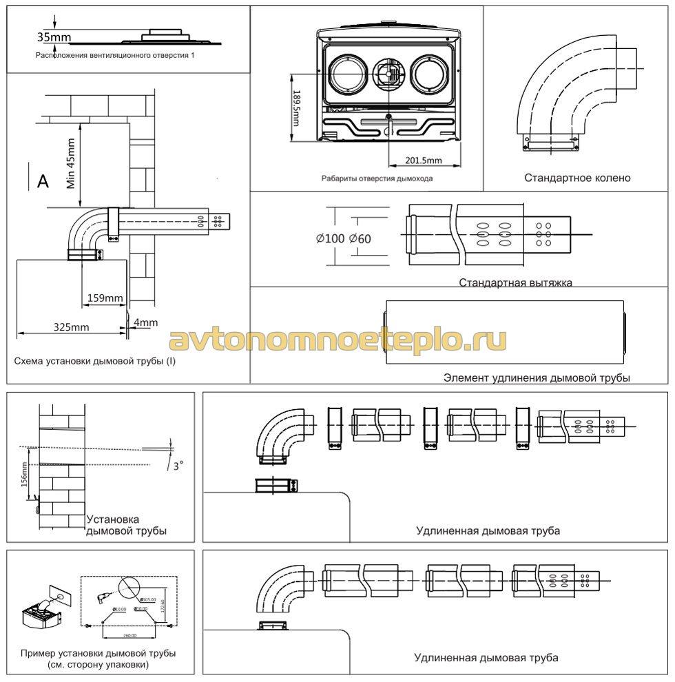 инструкция по устройству и монтажу коаксиальной трубы