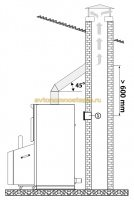монтажная схема подсоединения к дымоходу
