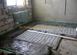монтаж цементно-песчаного слоя на теплый пол