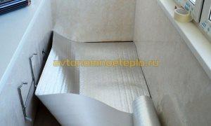 фольгированная подложка при монтаже подогрева балкона