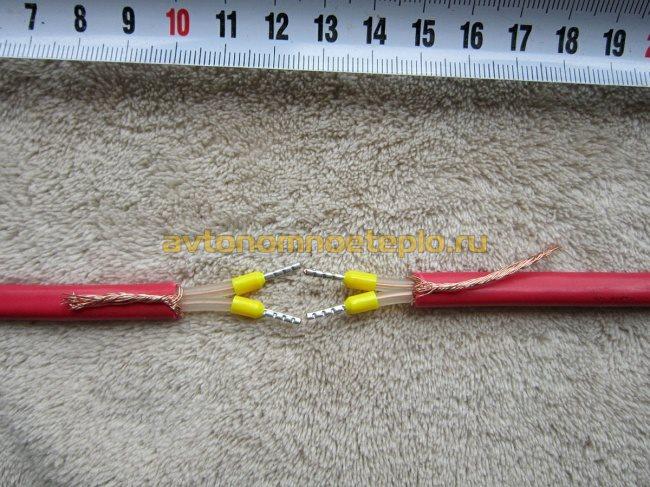 подготовка концов кабеля перед обжимом в гильзах