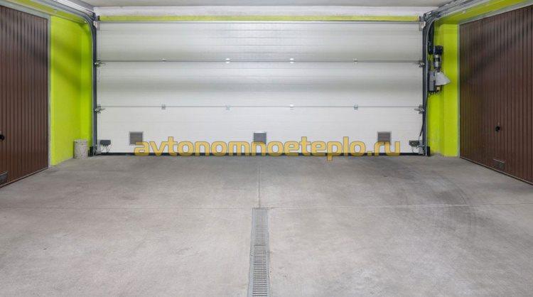 пол в гараже с подогревом