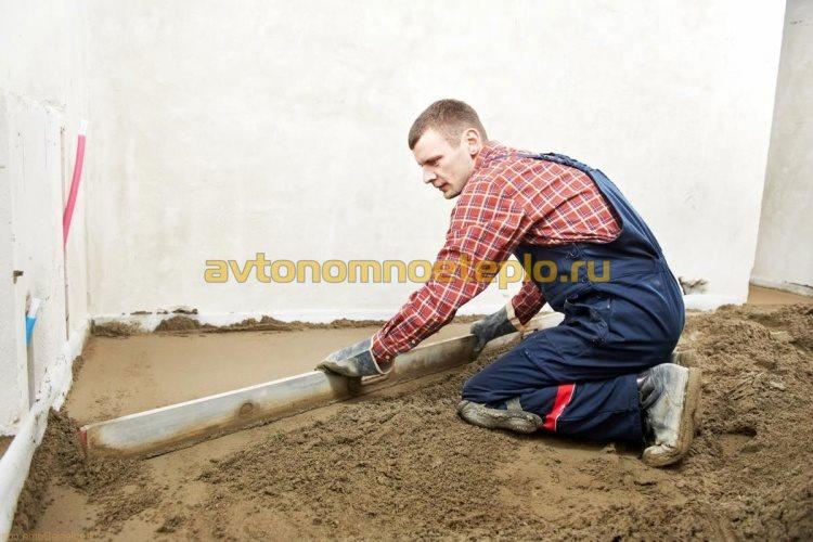 выравнивание песчаной подсыпки