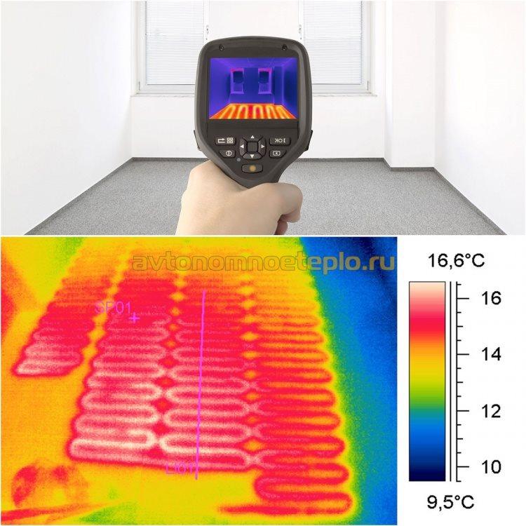 проверка не прогреваемых зон по тепловизору