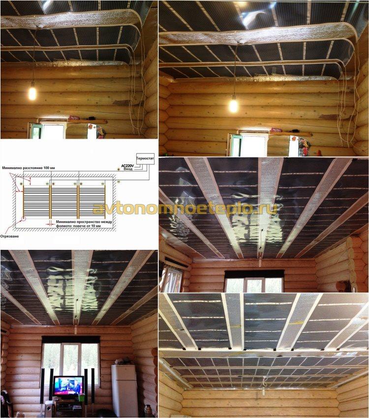 использование ИК системы обогрева в деревянном доме