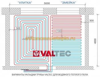 правила раскладки трубы Valtec при монтаже теплых полов