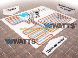 технические решения по раскладке трубы Watts