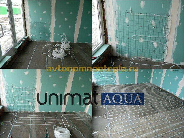 укладка пола Unimat Aqua