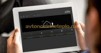 удаленное управление температурным режимом в доме через приложение Kermi