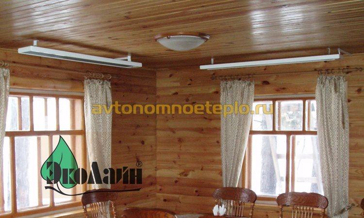 обогрев дачного дома потолочными панелями ЭкоЛайн