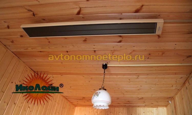 обогрев деревянного дома панелью ИкоЛайн ИКО