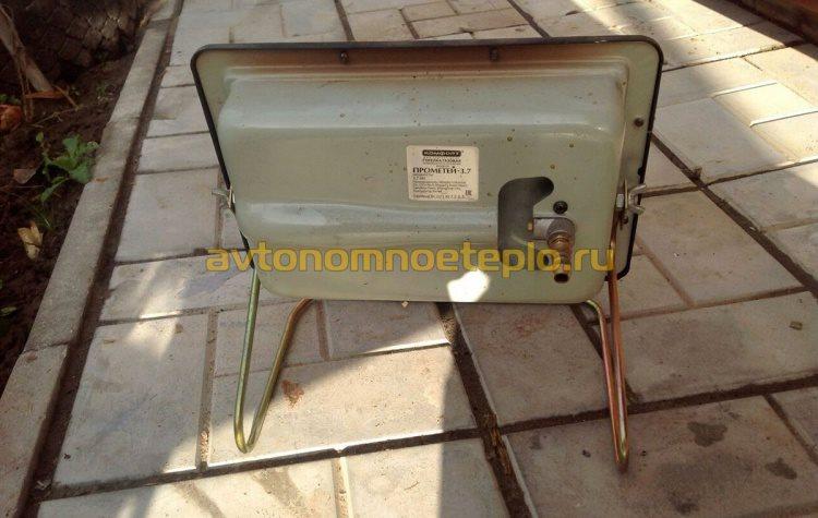 штуцер подключения газа к обогревателю Прометей