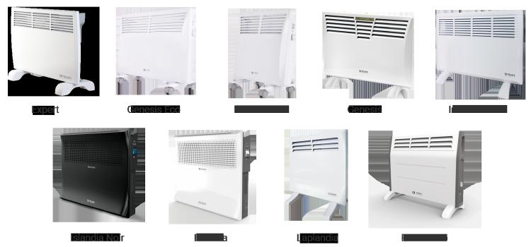 модельный ряд электроконвекторов марки Timberk
