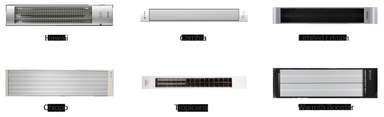 линейка инфракрасных обогревателей выпускаемых Timberk