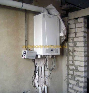 газовый котел с подключением через стабилизатор напряжения