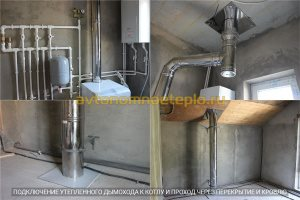 этапы установки оцинкованной дымоходной трубы