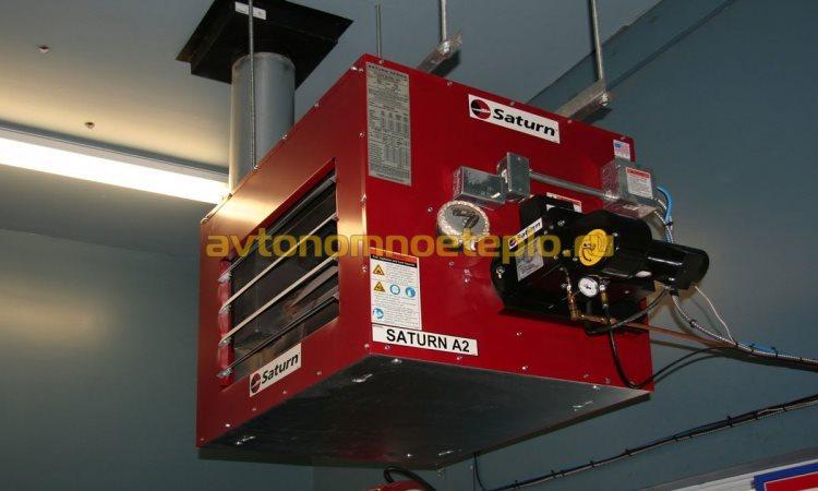 подвесной теплогенератор на отработке