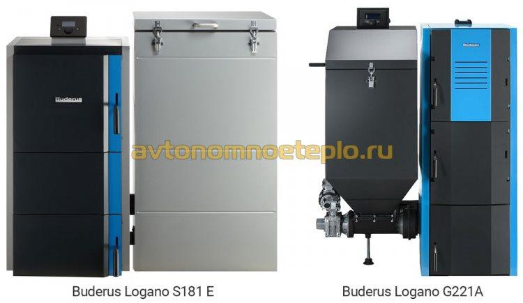 модельный ряд твердотопливных котлов Buderus с автоматической подачей топлива