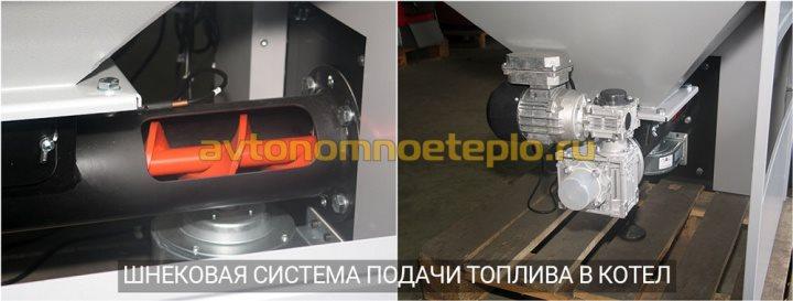 шнековая система подачи топлива из бункера в котел