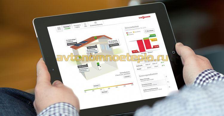 управление отопление Viessmann через мобильное приложение