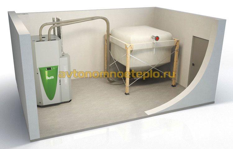 отдельностоящий бункер для гранул-пеллет