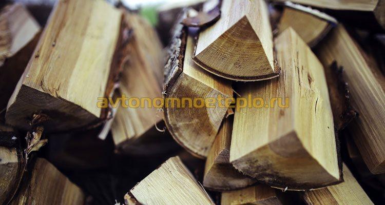 дрова для котла с пиролизным сжиганием