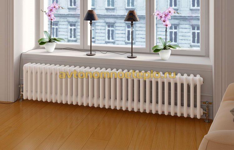 алюминиевый радиатор в доме