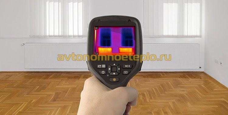 анализ прогрева радиаторов на тепловизоре