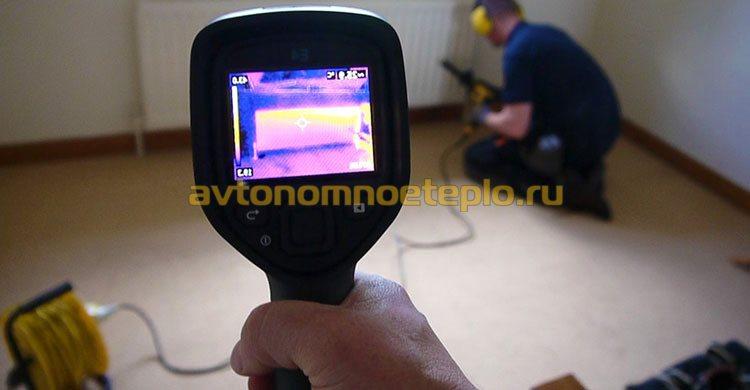 проверка работы радиатора с помощью тепловизора