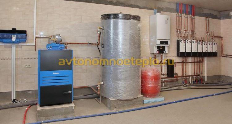 комбинированное использование твердотопливного Buderus с газовым котлом
