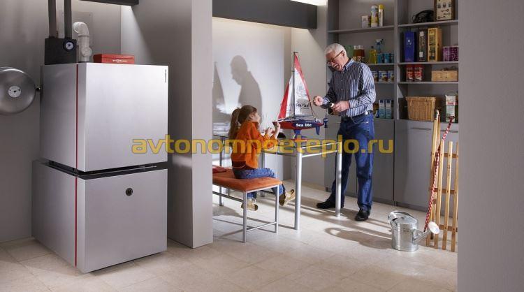 напольный низкотемпературный котел Висман с бойлером