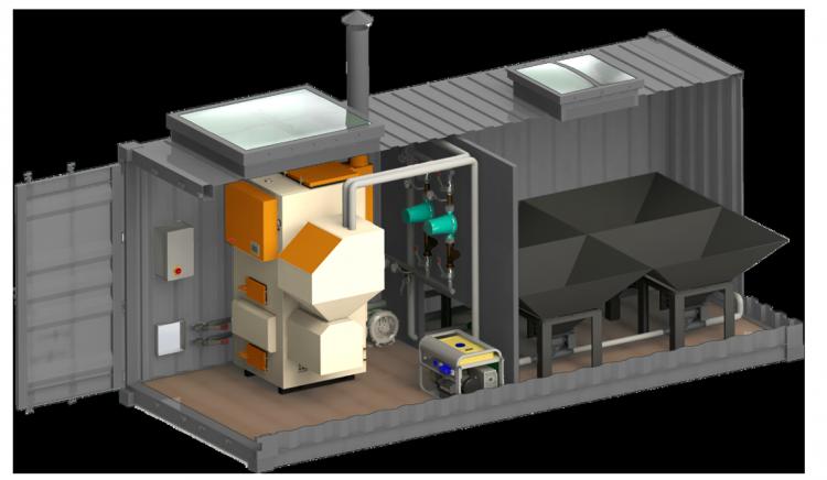 пеллетная блочно-модульная котельная от Grandeg