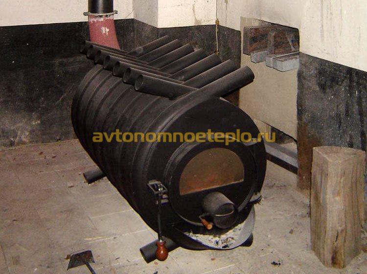 конвекционная печь в гараже