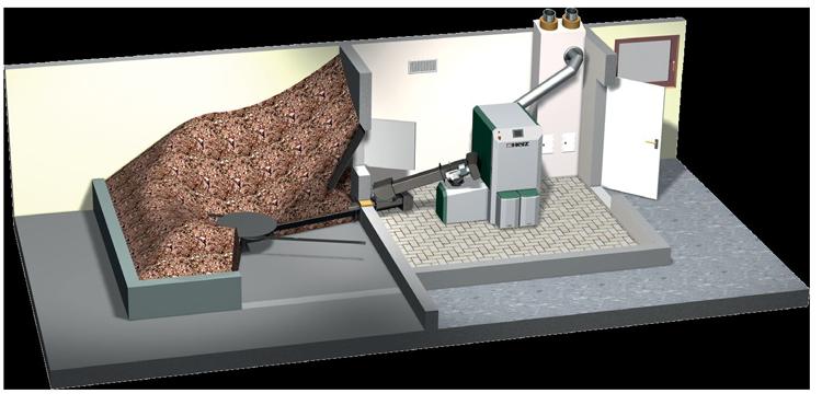 схема устройства котельной на щепе